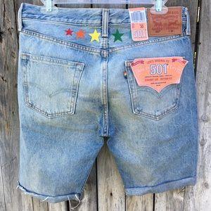 NWT Levi's 501 Pride Cutoff Jean Shorts 30